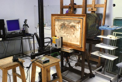 دستگاه عکاسی ایکس ری ویژه آثار هنری در آتلیه آوام